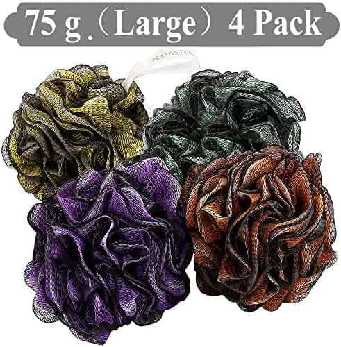 loofah shower scrunchie large, shower scrunchie men, shower poofs, lufa sponge,bath pouf,shower pouf, loofah large XL