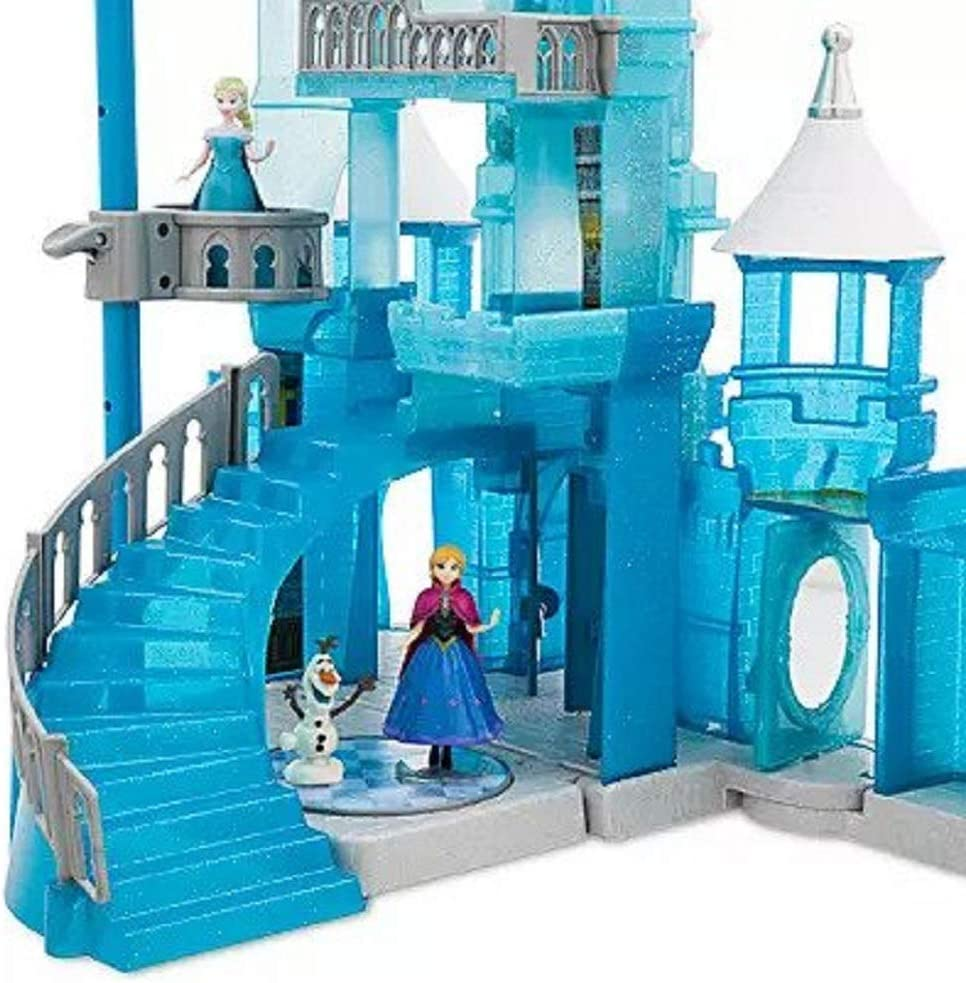 NIB Frozen Holiday Wish Walt Disney World Castle Play Toy Set Elsa Anna Olaf