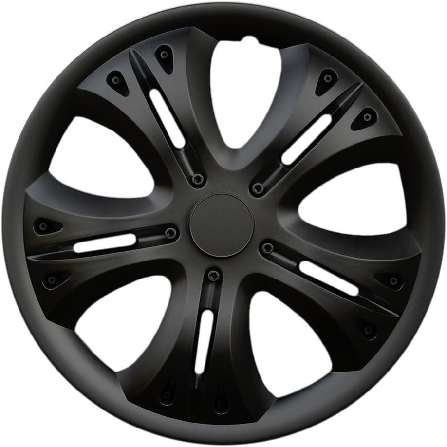 Radkappen passend f/ür Fast alle Ford wie z.B Fiesta MK5 Schwarz CM DESIGN 15 Zoll Radzierblenden Lion Black
