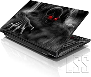 """LSS 15 15.6 inch Laptop Notebook Skin Sticker Cover Art Decal Fits 13.3"""" 14"""" 15.6"""" 16"""" HP Dell Lenovo Apple Asus Acer Compaq (Free 2 Wrist Pad Included) Dark Ghost Zombie Skull"""