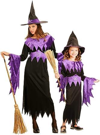 Generique - Disfraz de Pareja de Brujas Violeta Halloween Madre e ...