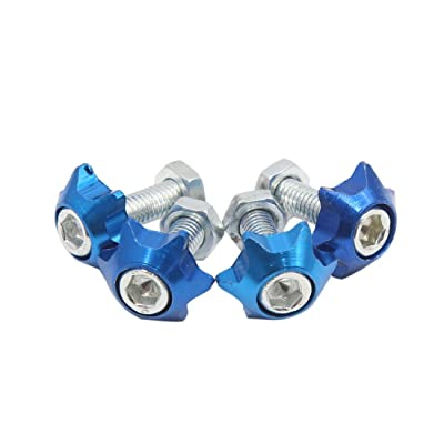 uxcell 4pcs Blue 6mm Thread Diameter Motorcycle License Plate Frame Screws Bolts Caps: Automotive