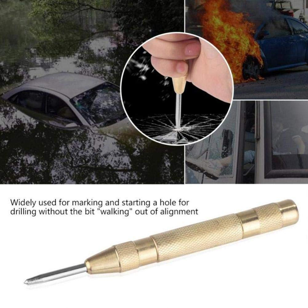 Loveless Land Automatic Center Punch Pin Steel Spring Loaded Marking Starting Holes Hand Tool Kit Red