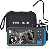 Industrial Endoscope with Screen, Teslong Upgrade 4.5inch Borescope Monitor with 5.5mm Waterproof Inspection Camera(5m…