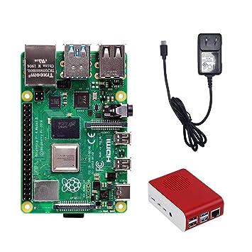 Amazon.com: Raspberry Pi 4 - Kit básico de 2 GB sin tarjeta ...