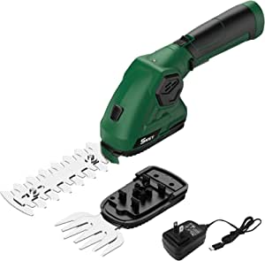 SKEY 2-in-1 Hedge Trimmers - Cordless Hedge Trimmer/Grass Shears Rechargeable Lithium-Ion Battery and Charger Included, Easy& Convenient for Garden Pruning