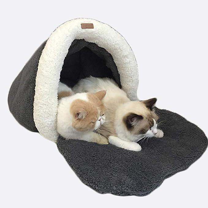 Cama Para Mascotas Desmontable Mascota Caliente Cesta CAT Sofá Adecuado Para Pequeñas Y Medianas Mascotas, Adecuado Para El Hogar Diario O Viajes Al Aire ...