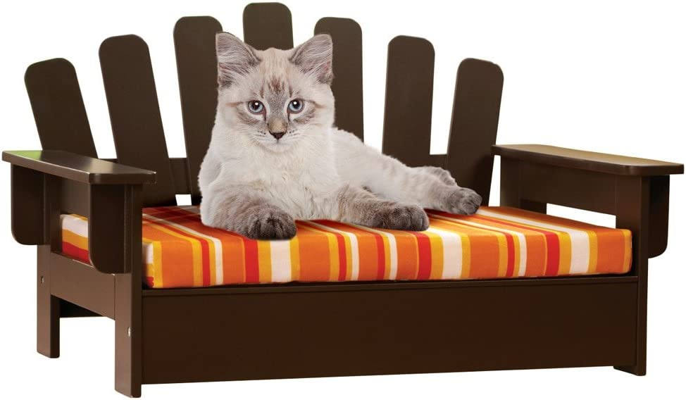 "Etna Products Wooden Adirondack Pet Chair, standard, size is 22""L x 14 1/4""W x 13""H."