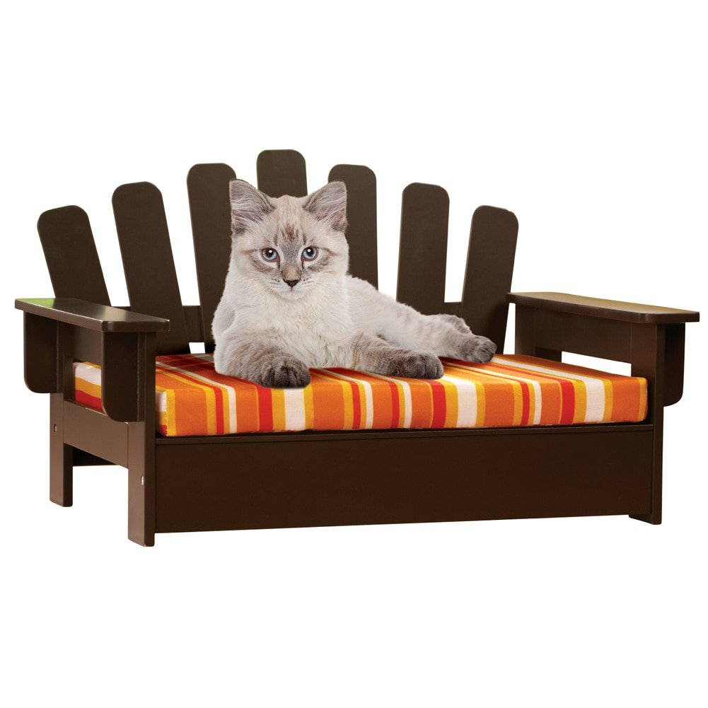 Etna Products Wooden Adirondack Pet Chair, standard, size is 22''L x 14 1/4''W x 13''H.