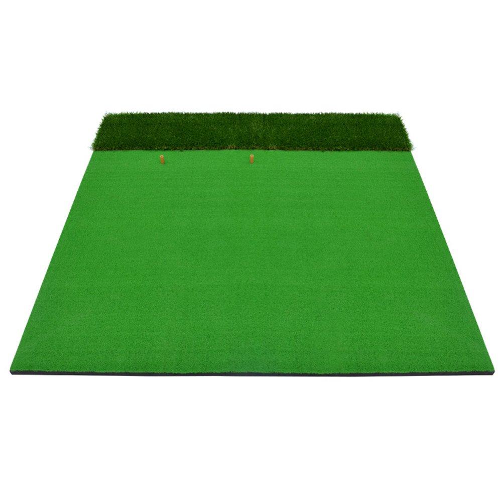 ゴルフヒットパッドスイングプラクティスマット屋内と屋外の多機能ロングとショートグラスカッティングロッド   B07FNJKZ65