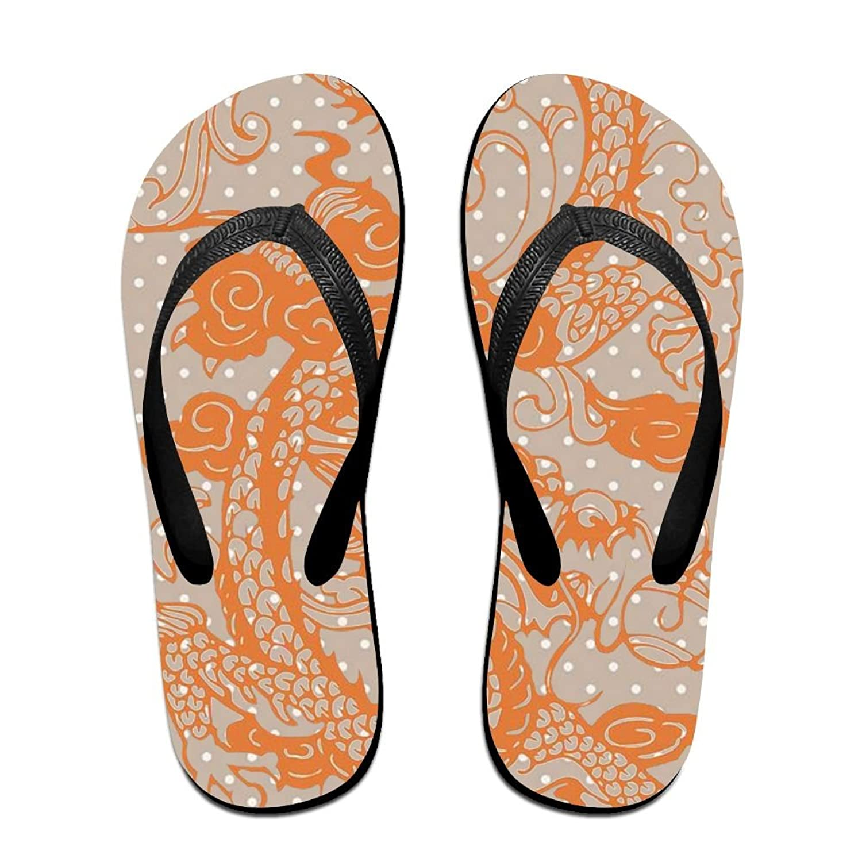 9ba6ba946 Stylish Lightweight Women s Men s Personalized Beach Flip Flops Chinese  Paper-cut Dragon Beach Slippers