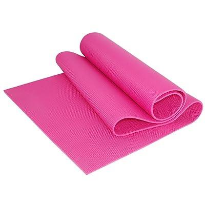 Tapis de yoga / antidérapant tapis de yoga de sport insipide / plus épais tapis de pratique de danse multi-fonction / 173 * 61cm ( Couleur : Rose )