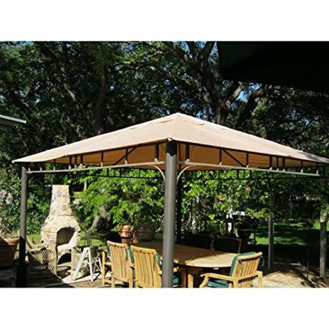 12 X Arched Corner Single Tiered Gazebo Replacement Canopy Top Cover
