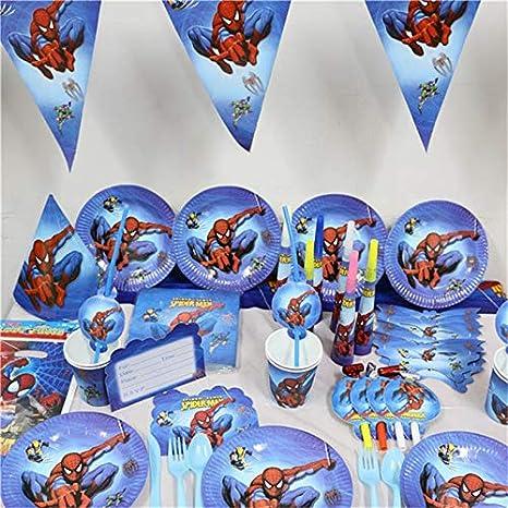 141 Unids Spider Man Kids Fiesta De Cumpleaños Decorar ...