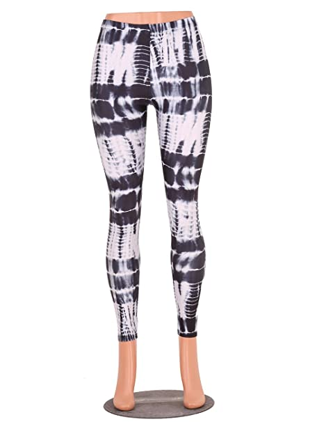 2f0c8d895f Sanpurse Women's Ankle Length Soft Pants Workout Leggings Capris Brushed  Leggings With White Black Printing at Amazon Women's Clothing store: