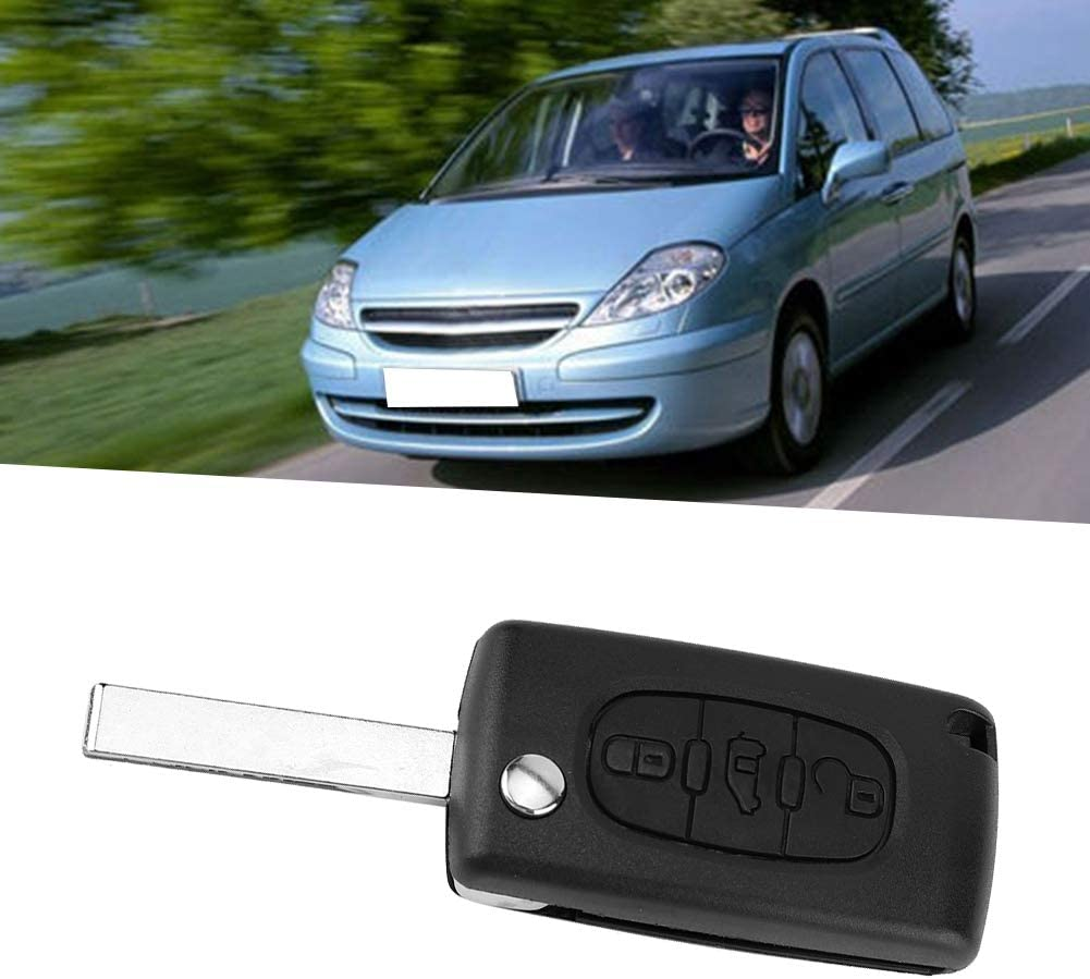 3 Button Car Remote Flip Key Fob Shell Case Fit for DISATATCH Scudo Suuonee Key Fob Cover