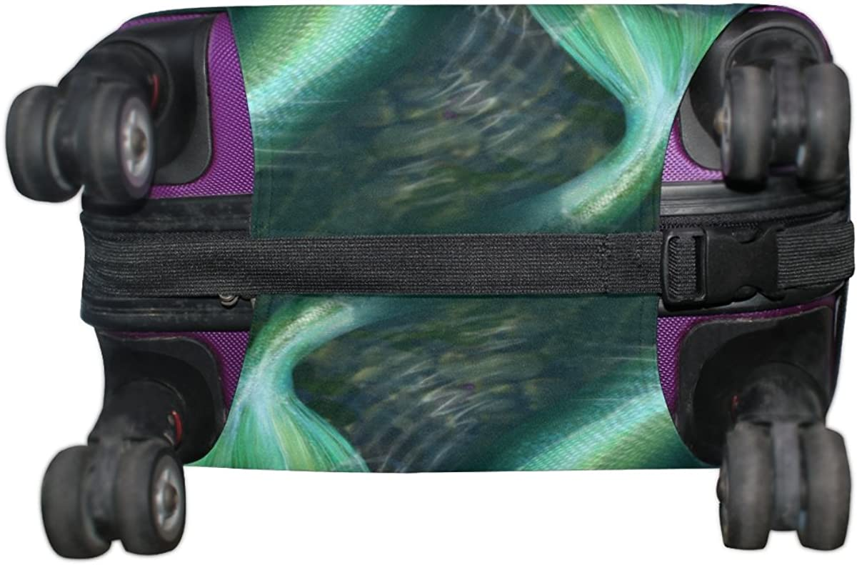 ALAZA Mermaid Dragonfly Polyester Luggage Suitcase Cover Case Protector