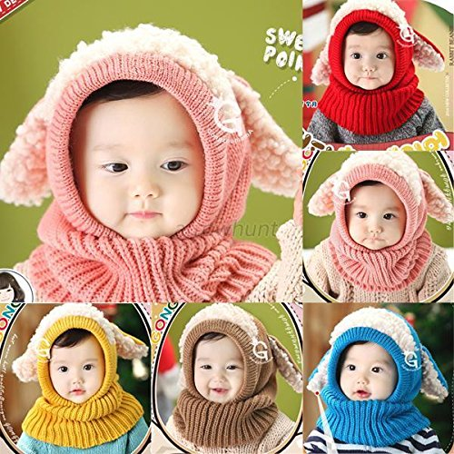 [Infant Toddler Boy Girl Baby Kids Warm Winter Wool Hat Cap Hats Coif Hood Scarf] (Halloween Costumes For 12 Month Old Girl)