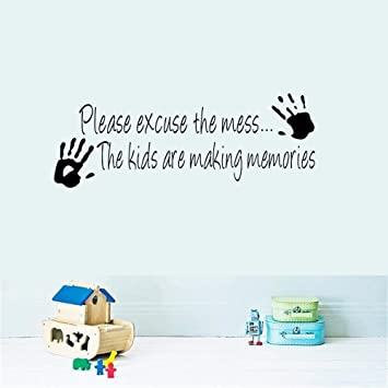 Amazon Trfhjh Quotes Wall Sticker Home Art Making Memories Fascinating Cartoon Home Quotes