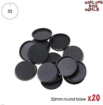 Bases de plástico Redondas de 32 mm para Jugar en miniaturas y Juegos de Mesa: Amazon.es: Juguetes y juegos