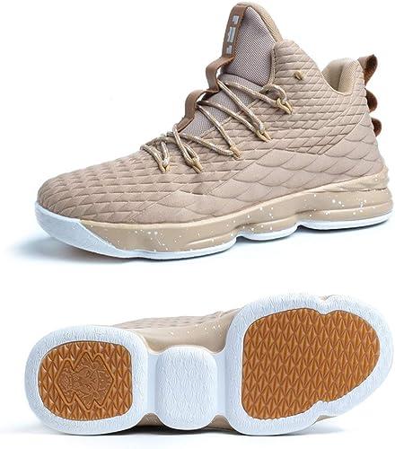 Scarpe Uomo da Pallacanestro Leggere Basket Sneakers Alte Sportive Esterno Grandi Calzature da Corsa Nero Rosso Champagne Verde Acceso 36-46
