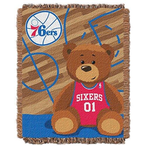 Northwest NBA Philadelphia 76Ers Half Court Woven Jacquard Baby 36x46