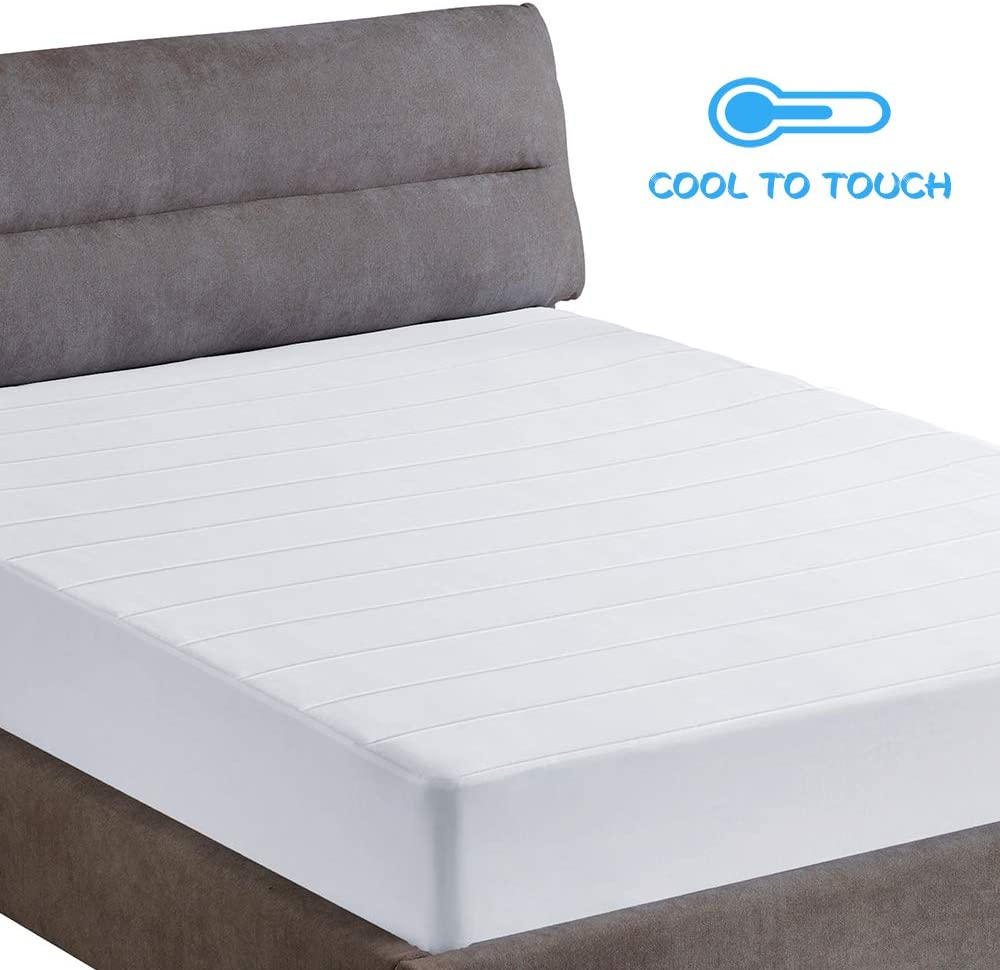 "SunStyle Home Mattress Pad - Cooling Mattress Cover Breathable Mattress Protector with 15"" - 16"" Deep Pocket (Queen Mattress Topper)"