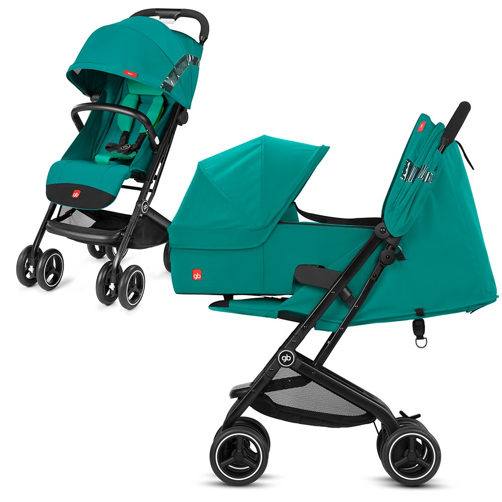 gb 2018 Buggy QBIT+ incl. Carrycot Cot to Go ''Laguna Blue'' - from birth up to 17 kg (approx. 4 years) - GoodBaby QBIT PLUS by gb (Image #1)