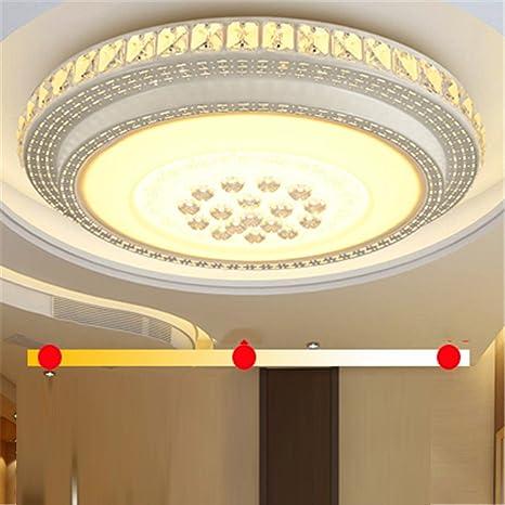 Wmshpeds Salón de luces LED, lámparas de cristal, lámparas ...