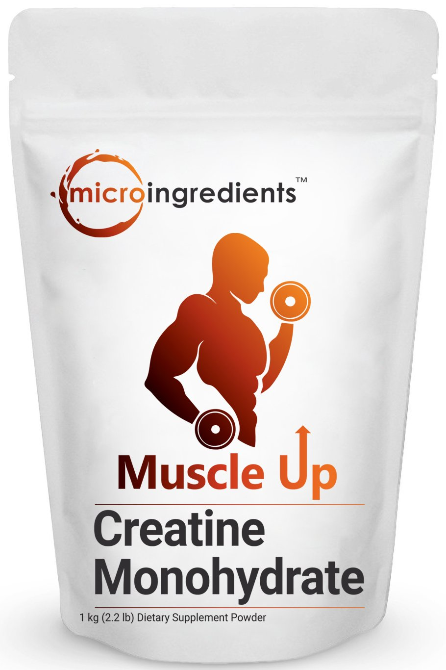 Pure Micronized Creatine Monohydrate Powder, 1 Kilogram, Maximizes Strength, Endurance Exercises and Productivity, Reduces Fatigue. Non-GMO and Gluten-Free.