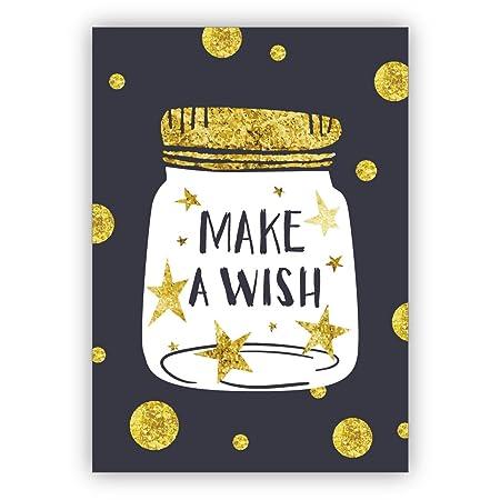 Hermosa tarjeta de cumpleaños para grandes deseos: Pide un ...