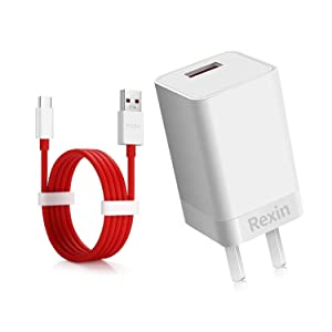 OnePlus 6 Dash Charger OnePlus 5T/5 Dash ChargerDash Power Adapter [5V 4A] + OnePlus Dash Charging Cable 1M / 3.3FT USB C Fast Charging Data Cable for OnePlus 6T 6 5T 5 3T 3