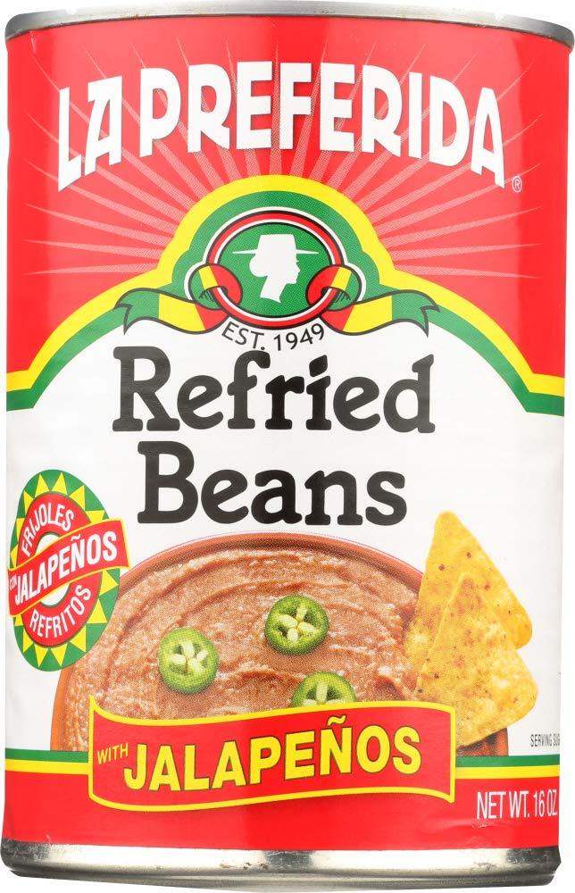 Amazon.com: La Preferida (NOT A CASE) Refried Beans with Jalapenos: Home & Kitchen