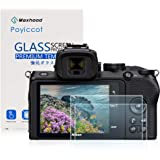 for Nikon Z50 Screen Protector, Poyiccot 2Pack Tempered Glass 9H HD Scratch Resistant Camera Screen Protector for Nikon Z50 D