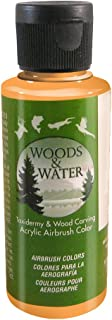 product image for Badger Air-Brush Co. 4-Ounce Woods and Water Airbrush Ready Water Based Acrylic Paint, Bright Orange