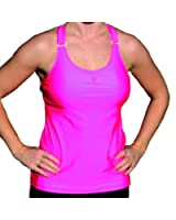 heart&core Women's Neon Pink Ultimate Support Tank Top
