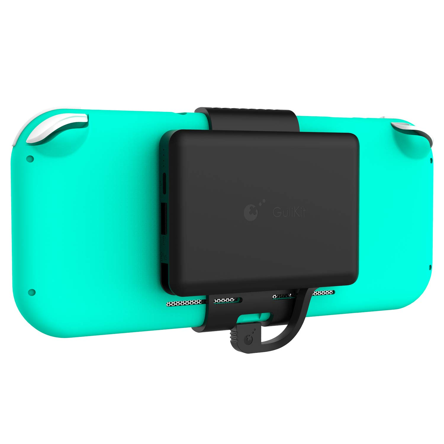 GuliKit Battery Pack for Nintendo Switch Lite, 5000mAh Portable Battery Case Power Bank with Back Mount Clip for Switch Lite, Smartphones and Tablets