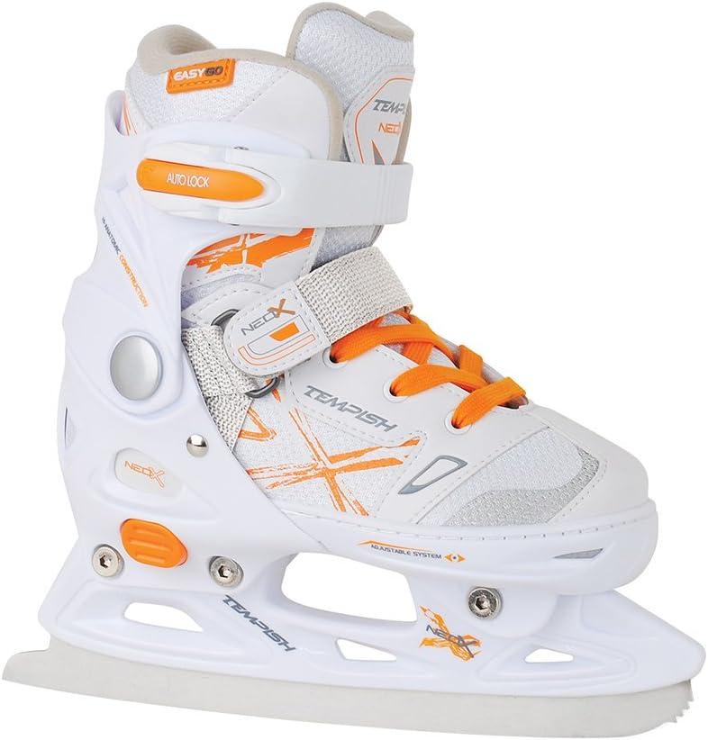 Kids ICE SKATES children hockey skates ADJUSTABLE SIZE Tempish