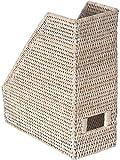 KOUBOO 1060082 La Jolla Rattan Magazine File, 10.5'' x 4.5'' x 12'', White Wash
