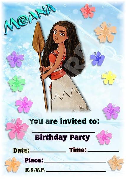 Disney Moana - Invitaciones para fiesta de cumpleaños ...