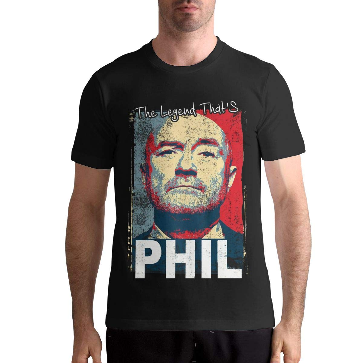 MaryAPerez Phil Collins Shirt Summer Leisure Tee Mens Cool Short Sleeve Cotton