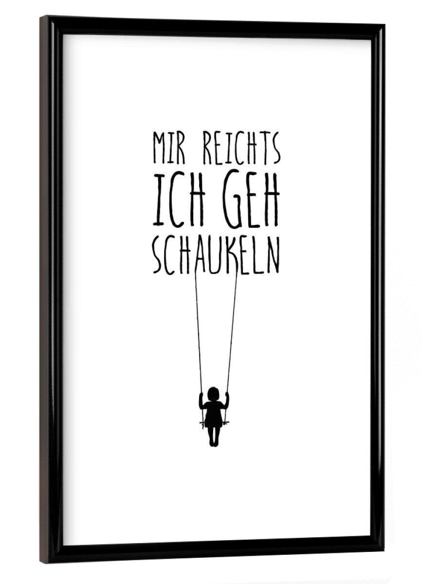 Amazon.de: artboxONE Poster mit Rahmen 30x20 cm Schaukeln von ...