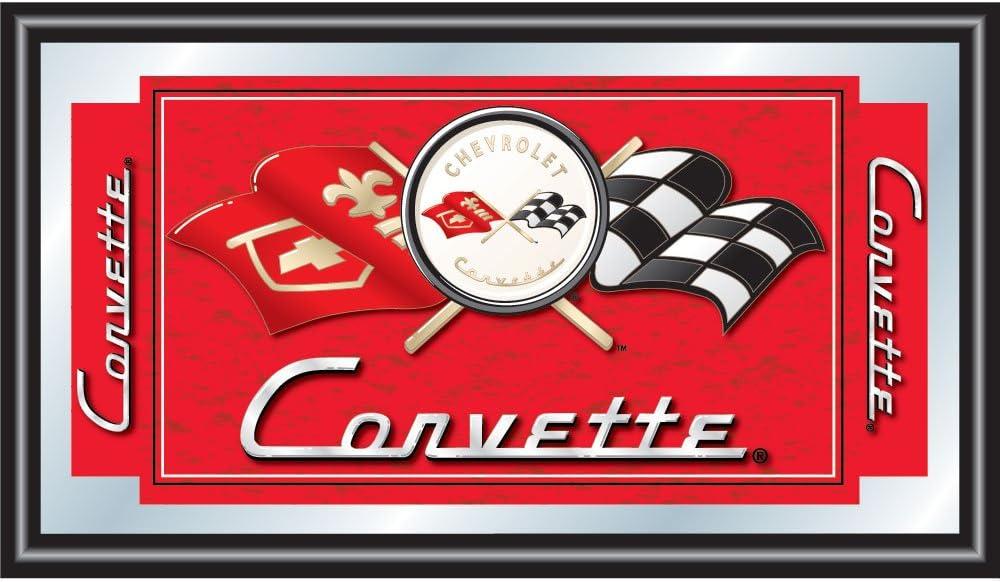 Chevrolet Corvette Framed Logo Mirror
