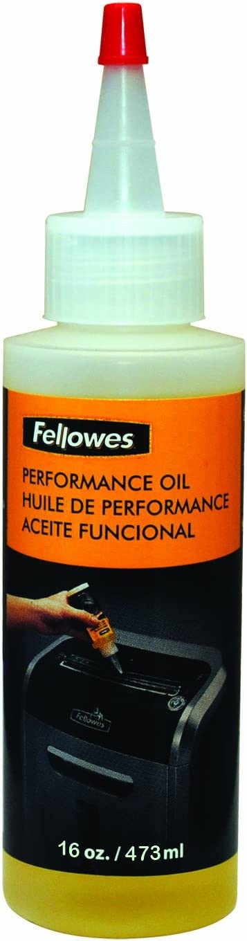 Fellowes Powershred Performance Shredder Oil, 16 oz. Extended Nozzle Bottle (3525010)