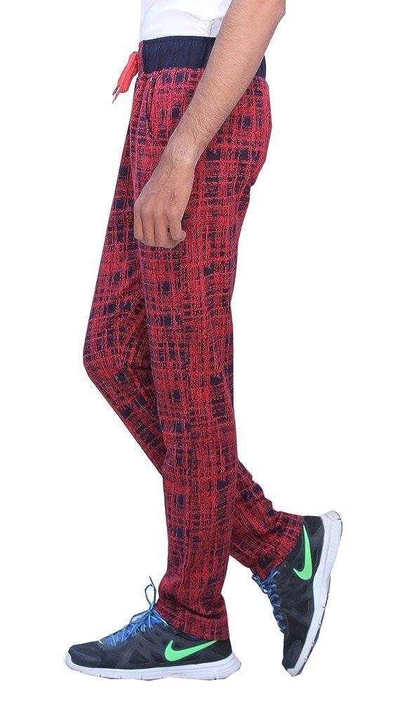 Romano Mens Trendy /& Sporty Look Multi-Coloured Fleece Track Pant
