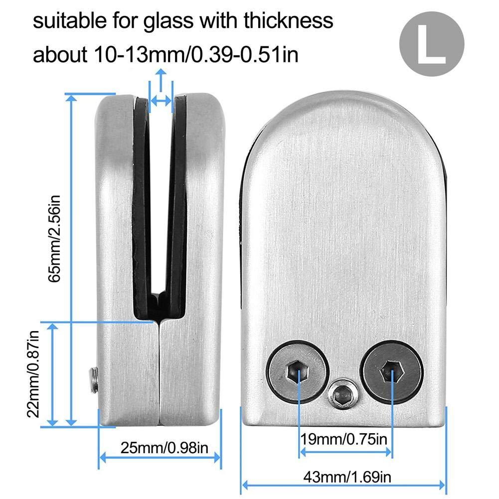 Anschluss Flach 6 Bis 13 Mm Glas Gel/änder Glasklemmhalter Brillie Glashalter Edelstahl Glasklemme