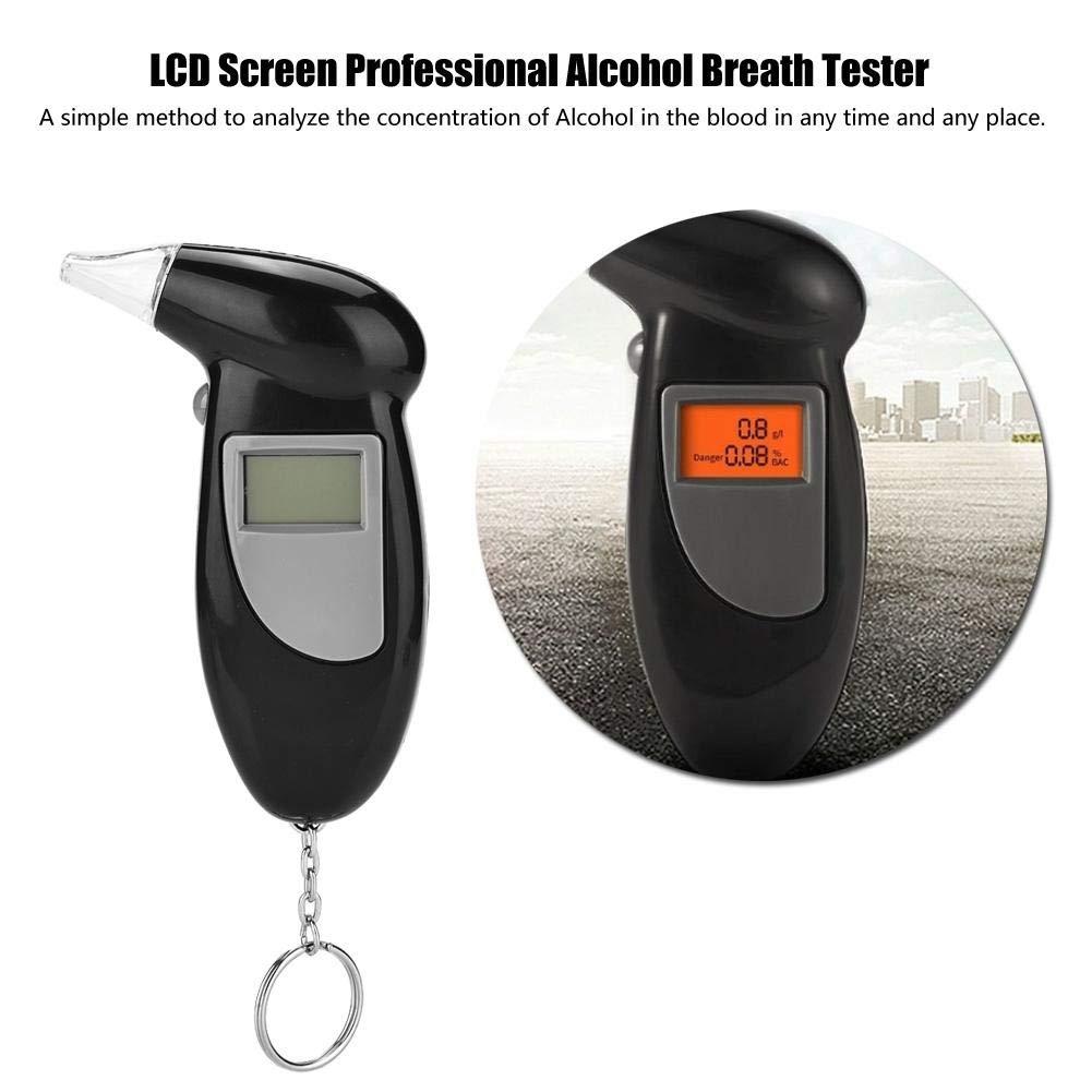 Alcohol Tests Alcohol Testers Alcohol Breath Tester Analizador LCD Pantalla Profesional Alcohol Breath Tester Analizador Detector de Lie Alcohol/ímetro Sin Retroiluminaci/ón