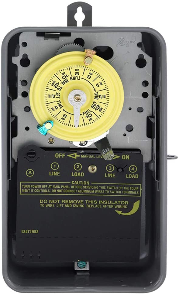 Best outdoor pool timer pump: Intermatic T104R Mechanical Time Switch