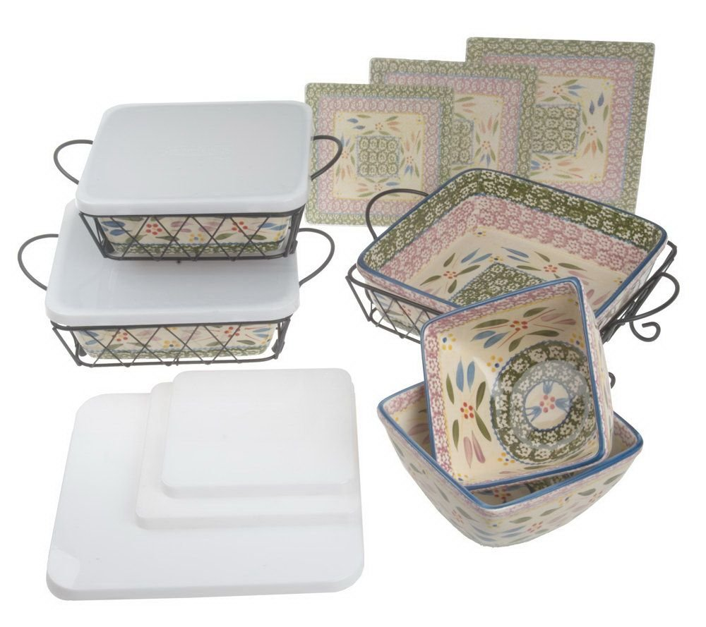 Temp-tations Old World Oven-to-Table Bakeware Set (Old World Confetti)