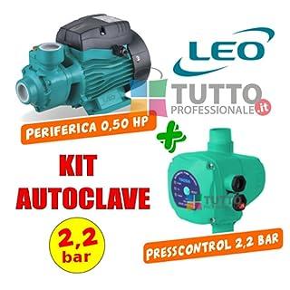 Bomba Autoclave 0.5HP con Press Control 2.2Bar Leo yaoda
